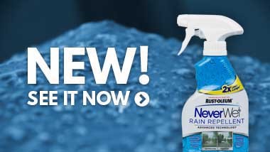 NeverWet hydrophobic coating spray bottle marked rain repellent